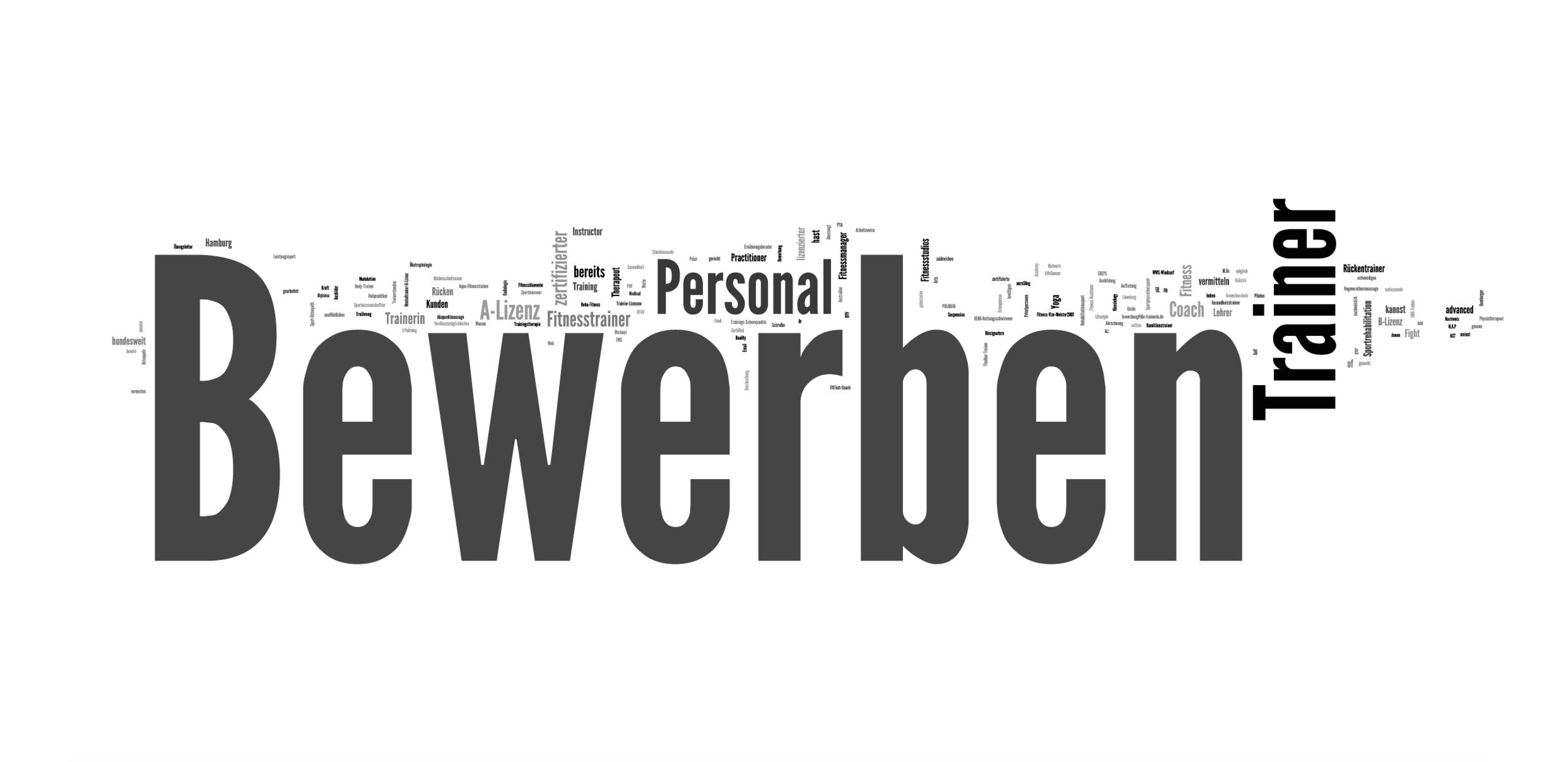 Personal Trainer Hamburg als Trainer Bewerben